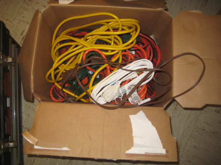 A box full of cables