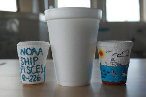 styrofoam cup degrading