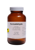 bottle of formaldehyde used in paper mills