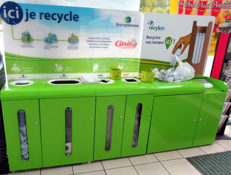 plastic recycling at the grocery store