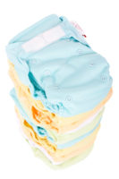 A stack of the best reusable swim diapers