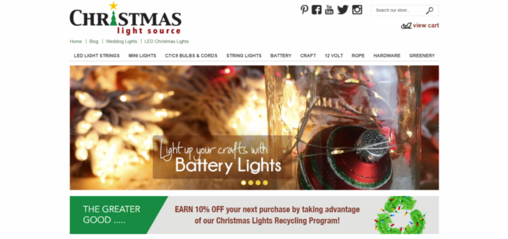 Christmas Light Source homepage