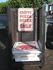 pizza box disposal