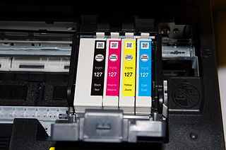 Ink cartridge in printer