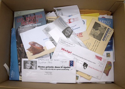 A box full of junk mail