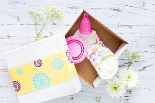 cloth pad in a box
