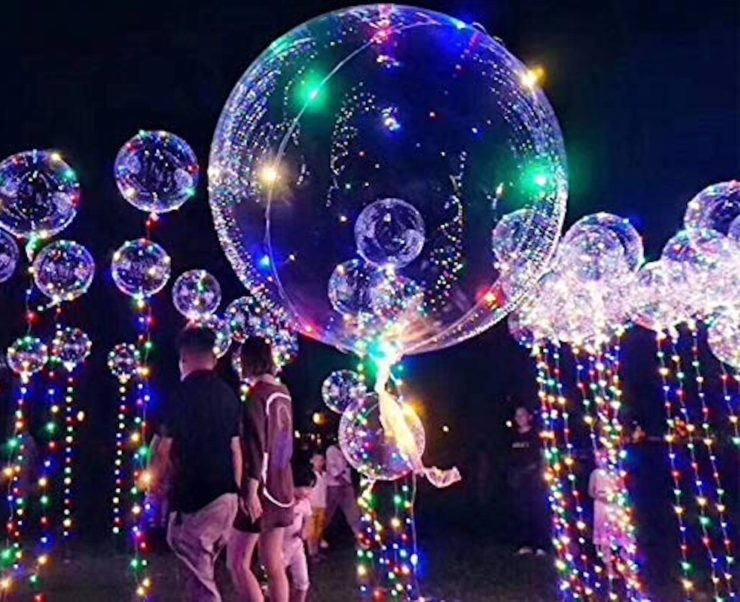 DANIDEER Reusable LED Ballons