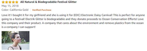 Electrik Glitter Amazon review