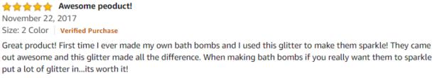 Minke Glitter Amazon review