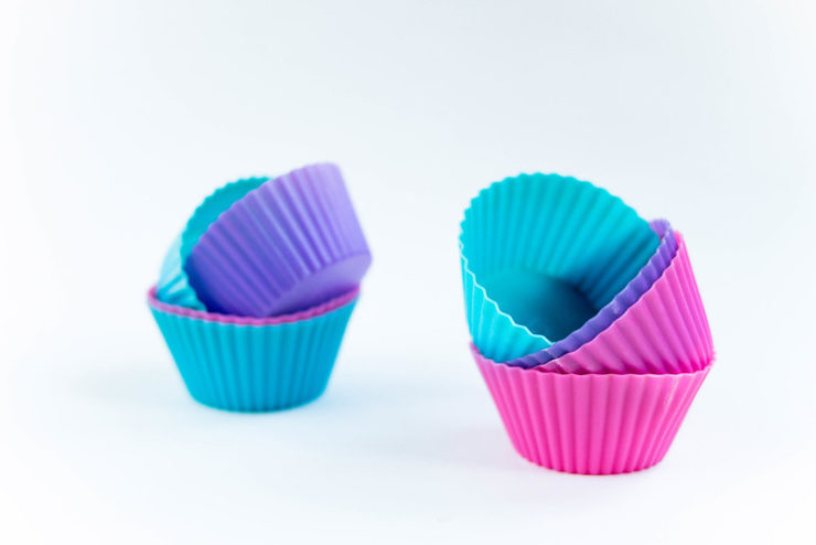 Silicone muffin molds