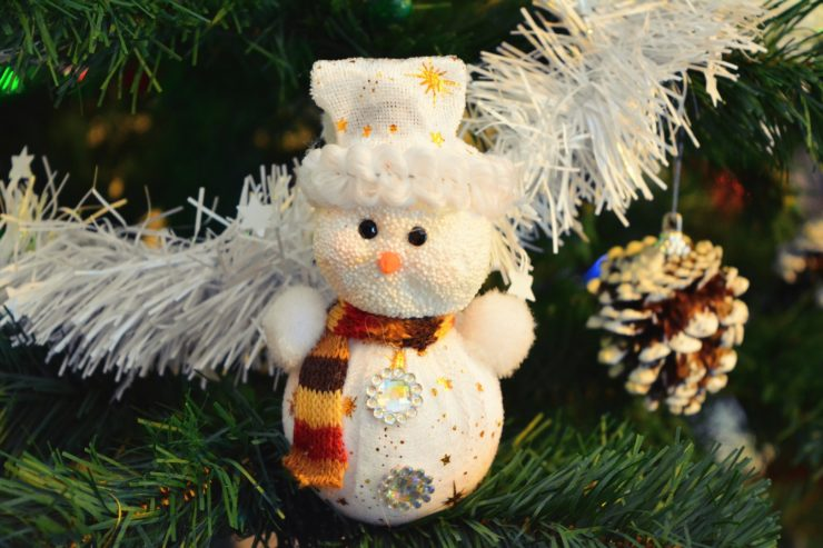Christmas tree with a snowman