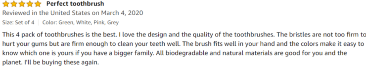 Cottify Toothbrush Amazon review