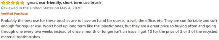 Daletu Wooden Toothbrushes Amazon review