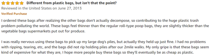 Earth Rated Dog Poop Bags Amazon review