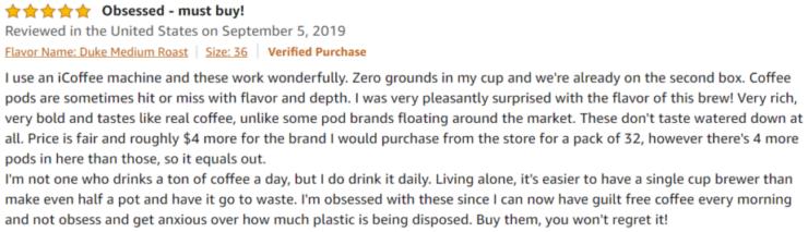GLORYBREW Amazon review