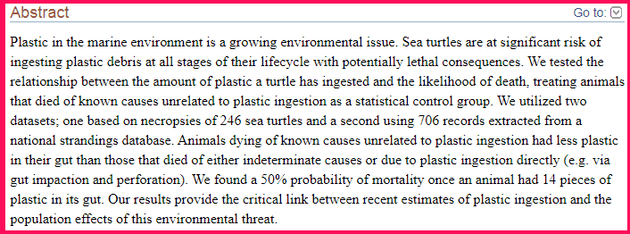 50% mortality rate for birds and turtles screenshot