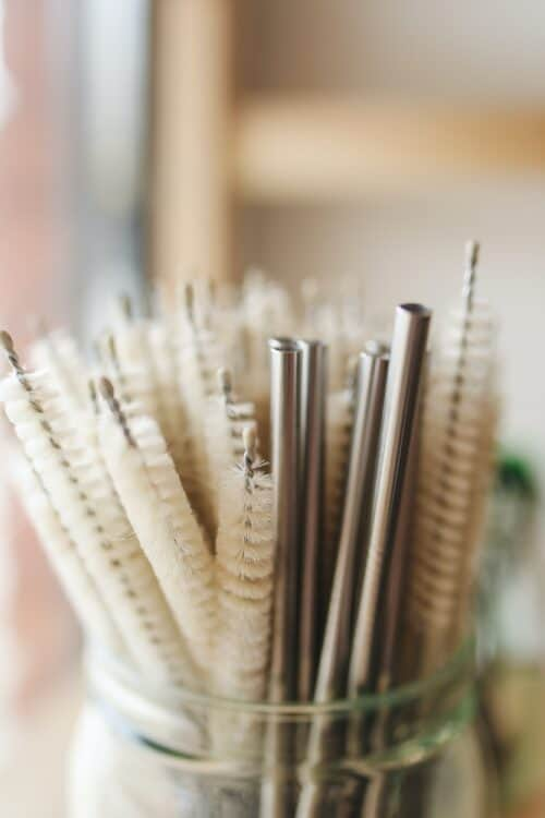 Straw cleaning brushes