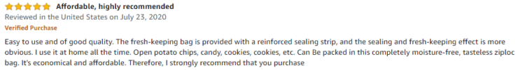Ecomore Freezer Bag Amazon review