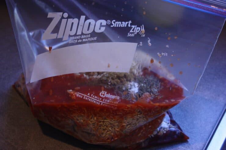 Reuse Ziploc bags