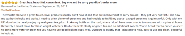 UEndure Glass Tea Infuser Amazon review