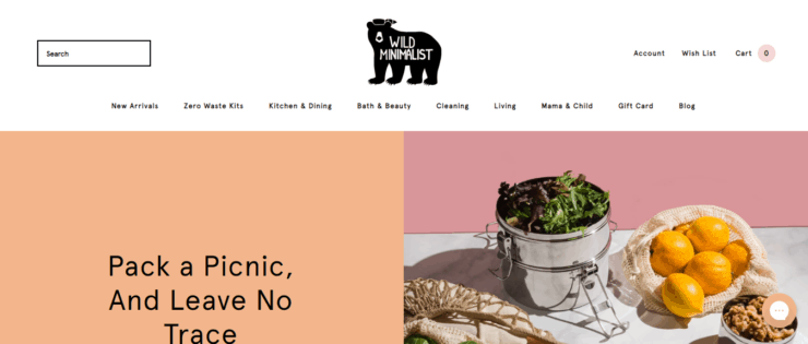 Wild Minimalist Homepage