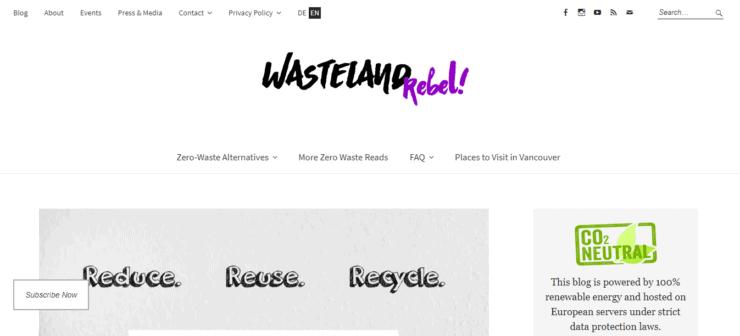 Wasteland Rebel homepage