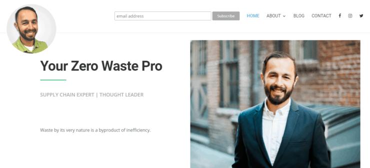 Zero Waste Guy homepage